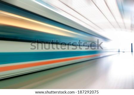 very high-speed train - stock photo