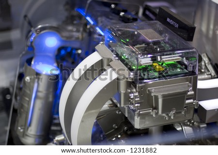 Very high tech and futuristic looking power inverter - stock photo
