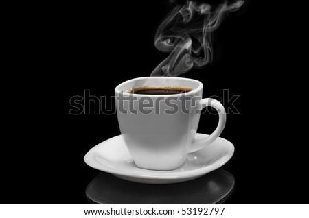 Very hot coffee - stock photo