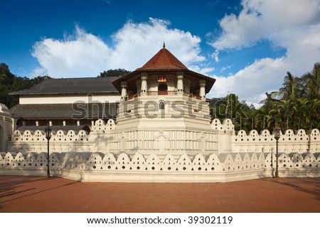 Very important Buddhist shrine - Temple of the Tooth. Sri Lanka - stock photo