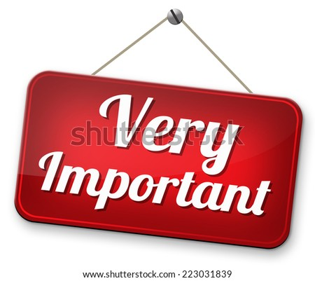very important info highest priority information please pay attention - stock photo