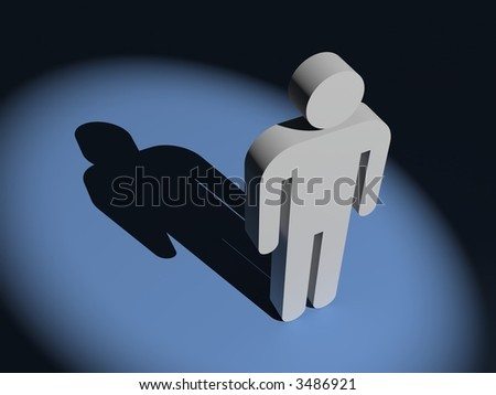 Very important person in spot of light - stock photo