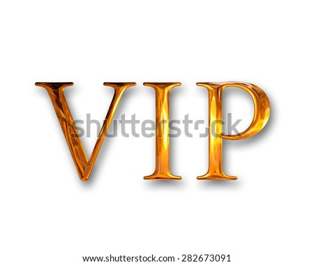 Very important person VIP - stock photo