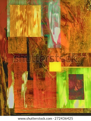 Very Interesting Abstract image On Glass in verso - stock photo