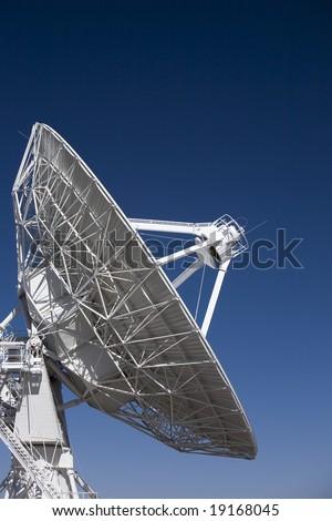 Very large array dish looking skyward - stock photo