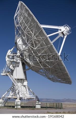 Very Large Array radio telescope antenna - stock photo