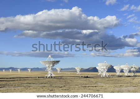 Very Large Array - Socorro, New Mexico - stock photo