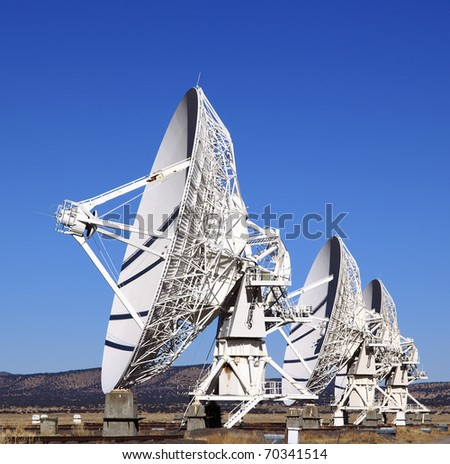 Very Large Array Telescope in Socorro County, New Mexico - stock photo