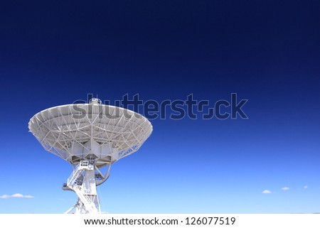 Very Large Array (VLA) Radio Observatory - stock photo