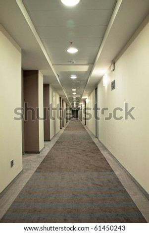 Very long corridor - stock photo