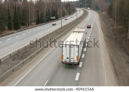 "Very long ""EuroCombi"" tuck on the highway - stock photo"