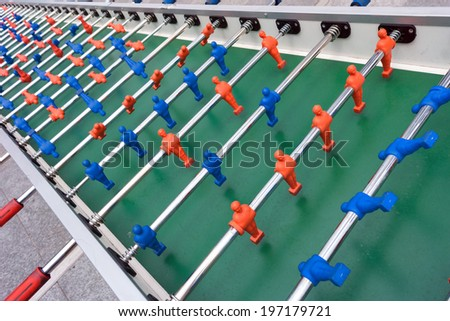 very long football or soccer table - stock photo