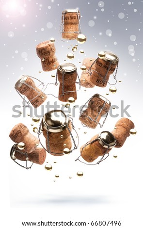 very merry new year - stock photo