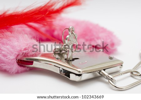 Very nice and sexy toys. Pink and red toys - stock photo