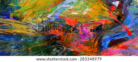 Very nice Image of a large scale Abstract Oil Painting