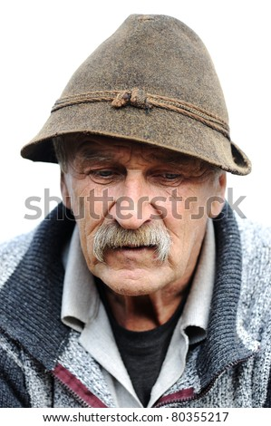 Very Nice Image of a Lonely Old man - stock photo