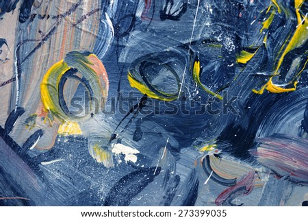 Very Nice interesting Large scale Oil Painting - stock photo