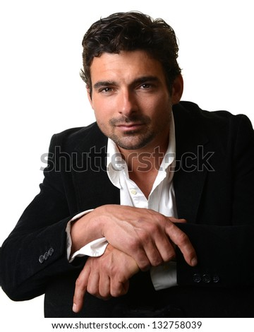 Very Nice Isolated Image of a Handsome Man - stock photo