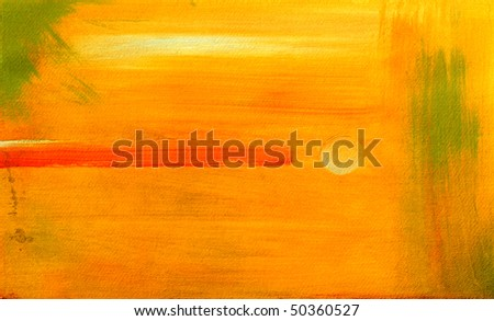 Very nice large scale Abstract painting On paper - stock photo