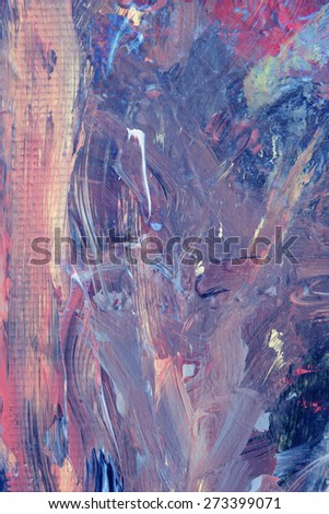 Very Nice large scale Original painting, Oil On Wood - stock photo