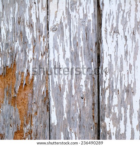 Very old and ruined wooden board texture - stock photo