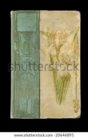 Very old art nouveau book cover - stock photo