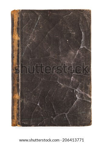 Very old book's cover - stock photo