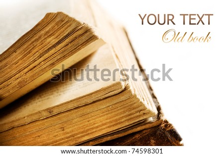 Very Old Book's pages closeup - stock photo