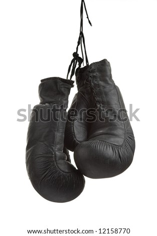 Very old boxing-glove - stock photo