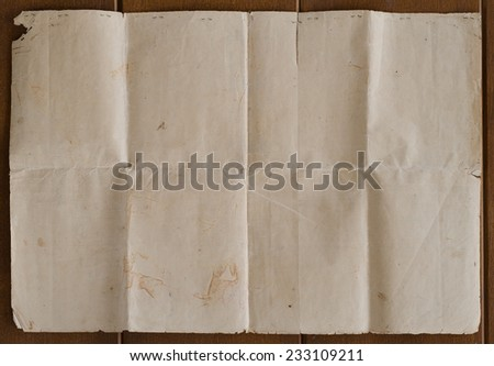 Very old crumpled brown paper texture. - stock photo