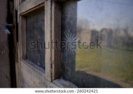 Very old door - stock photo