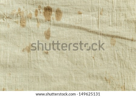 very old fabric with stain  - stock photo