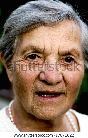very old grandma (aging) - stock photo