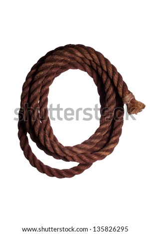 very old rope - stock photo