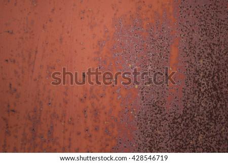 Very Old Rusty Metal Plate Background. Weathering Steel Sheet (corten Steel)  Pattern.