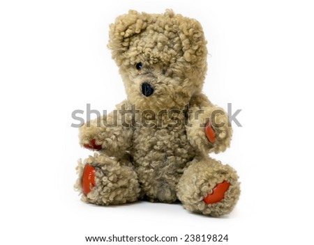 Very old teddy bear toy