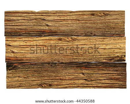 Very old wooden board - stock photo