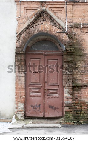 Very old wooden door