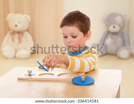 Very passionate boy.happy childhood, carefree childhood concept. - stock photo