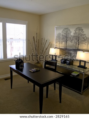 Very pretty home office - stock photo