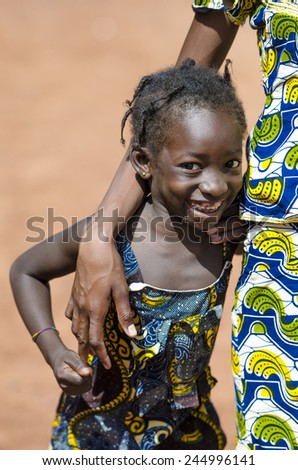Very Proud Black African Girl Posing Under The Sun - stock photo