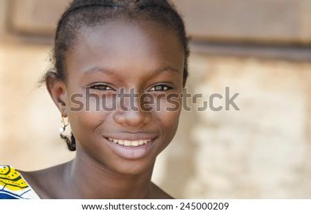Very Proud Black African Girl Posing Under The Sun - stock photo