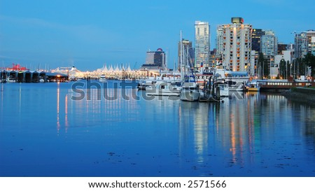 Very quite and peaceful scene near Vancouver Downtown - stock photo