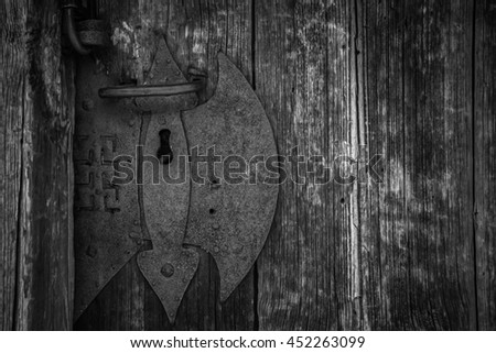Very rare door seal that looks like axe in black and white