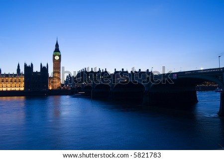 very rare picture of big ben stopped with the clock at 12h, the clock stop very few times since 1858 - stock photo