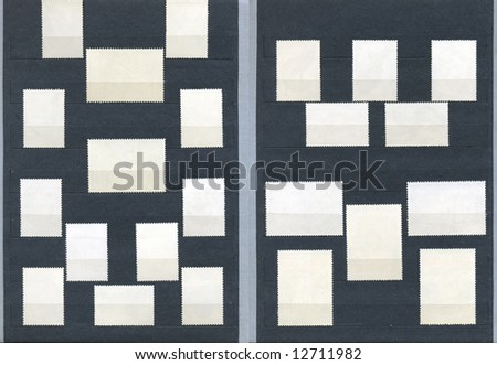 """very """"rarity"""" collection of stamps - stock photo"""