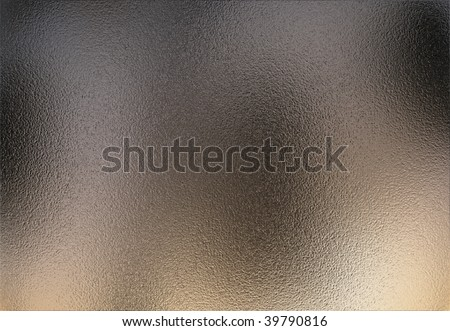 Very rough chrome metal sheet with a slight reflection of the environment - stock photo