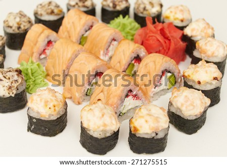 very tasty and delicious sushi freshly prepared