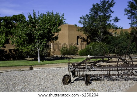 Very upscale adobe home in New Mexico. - stock photo
