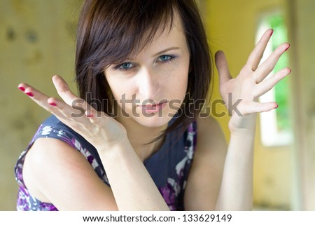 Very upset woman - stock photo